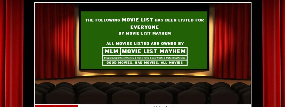 Movie List Mayhem